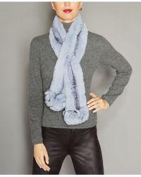 The Fur Vault - Rosette Knitted Rex Rabbit Fur Scarf - Lyst