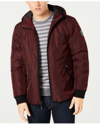 Kenneth Cole - Hooded Puffer Coat - Lyst