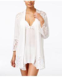 Linea Donatella - Flower Child Sheer Lace-trim Kimono Robe - Lyst