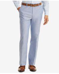 Tommy Hilfiger - Slim-fit Thflex Stretch Blue Chambray Suit Pants - Lyst