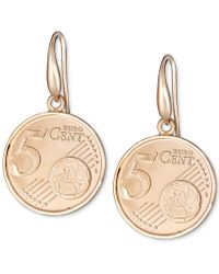 Macy's - Euro-look Coin Drop Earrings In 18k Gold-plated Sterling Silver - Lyst