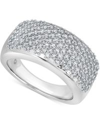 Macy's - Diamond (1 Ct. T.w.) Wave Band In 14k White Gold - Lyst