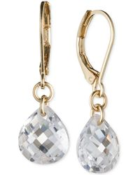 Lonna & Lilly - Gold-tone Crystal Drop Earrings - Lyst
