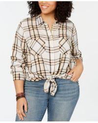 ce1af30d Lucky Brand - Plaid Button Up Boyfriend Shirt - Lyst