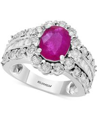 Effy Collection - Amoré By Effy® Ruby (1-9/10 Ct. T.w.) & Diamond (9/10 Ct. T.w.) In 14k White Gold - Lyst