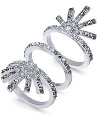 INC International Concepts - I.n.c. Silver-tone 3-pc. Set Ombré Pavé Bar Stack Rings, Created For Macy's - Lyst