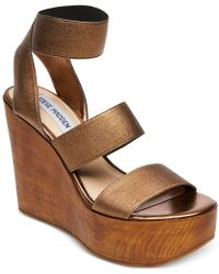 f28cb2889228 Steve Madden - Blondy Platform Wedge Sandals - Lyst