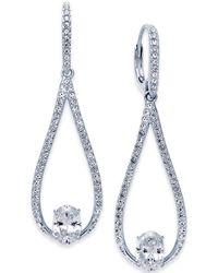Danori - Silver-tone Elongated Teardrop Drop Earrings - Lyst