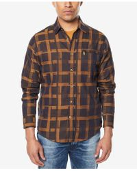 Sean John - Men's Two-tone Grid-pattern Shirt - Lyst