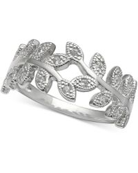 Giani Bernini - Cubic Zirconia Vine Ring In Sterling Silver, Created For Macy's - Lyst