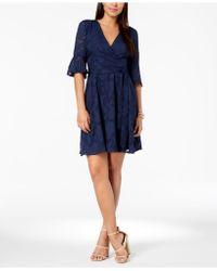 Kensie - Floral Burnout Wrap Dress - Lyst