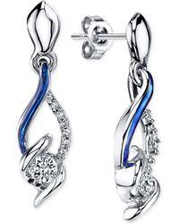 Sirena - Diamond Drop Earrings In 14k White Gold (1/4 Ct. T.w.) - Lyst