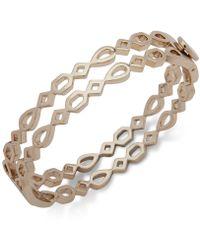 Ivanka Trump - Gold-tone Openwork Double Bangle Bracelet - Lyst