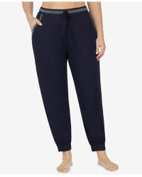 DKNY - Plus Size Striped Cropped Pajama Pants - Lyst