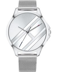 Tommy Hilfiger - Stainless Steel Mesh Bracelet Watch 38mm Created For Macy's - Lyst