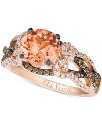 Le Vian - Peach Morganite (1-3/8 Ct. T.w.) And Diamond (5/8 Ct. T.w.) Ring In 14k Rose Gold - Lyst