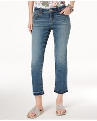 INC International Concepts - I.n.c. Straight-leg Cropped Jeans, Created For Macy's - Lyst