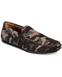 Alfani - Bromley Camo Suede Drivers, Created For Macy's - Lyst