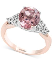 Effy Collection - Blush By Effy® Morganite (2-1/2 Ct. T.w.) & Diamond (1/6 Ct. T.w.) Ring In 14k Rose Gold - Lyst