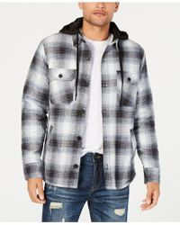 American Rag - Plaid Hooded Shirt Jacket, Created For Macy's - Lyst