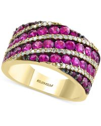 Effy Collection - Certified Ruby (2-3/4 Ct. T.w.) And Diamond (1/3 Ct. T.w.) Ring In 14k Gold - Lyst