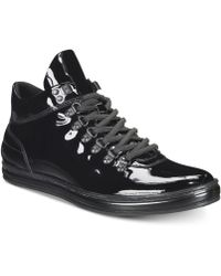 Kenneth Cole Reaction - Brand Tour Patent Leather Trainers - Lyst