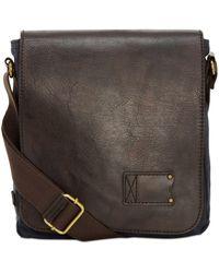 686013a9fc Lyst - Bottega Veneta Men s Woven Zip-top Messenger Bag in Black