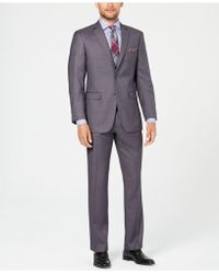 Perry Ellis - Slim-fit Comfort Stretch Grey Sharkskin Suit - Lyst