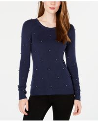Maison Jules - Embellished Sweater, Created For Macy's - Lyst