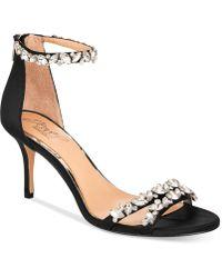 Badgley Mischka - Caroline Embellished Ankle-strap Evening Sandals - Lyst