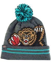 Mitchell & Ness - Vancouver Grizzlies Black Heather Hi-5 Pom Knit - Lyst