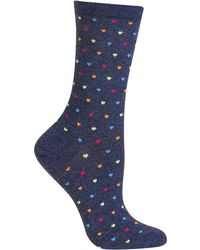 Hot Sox - Tiny Hearts Trouser Socks - Lyst