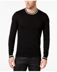INC International Concepts - Contrast-trim Knit Sweater, Created For Macy's - Lyst