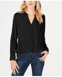 INC International Concepts - I.n.c. Twist-front Button-up Top, Created For Macy's - Lyst