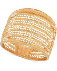 Macy's - Wide Mesh Statement Ring In 14k Gold - Lyst