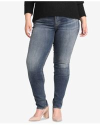 Silver Jeans Co. - Plus Size Avery High-rise Curvy-fit Slim Jeans - Lyst