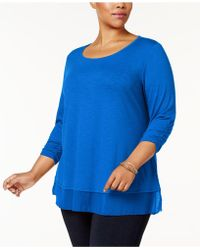 Style & Co. - Plus Size Chiffon-hem Top, Created For Macy's - Lyst