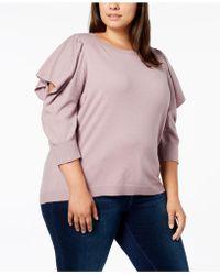 Love Scarlett - Plus Size Cutout-sleeve Sweater - Lyst