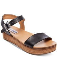 Steve Madden - Aida Flatform Sandals - Lyst