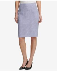 DKNY - Tweed Pencil Skirt, Created For Macy's - Lyst