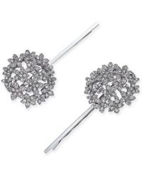 INC International Concepts - I.n.c. Silver-tone 2-pc. Set Crystal Flower Hairpins, Created For Macy's - Lyst