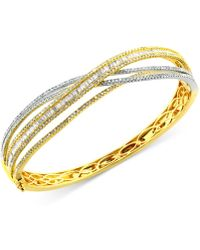 Effy Collection - Diamond Bangle Bracelet (3-1/6 Ct. T.w.) In 14k Yellow And White Gold - Lyst