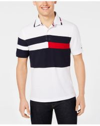 Tommy Hilfiger - Custom Fit Colorblocked Polo, Created For Macy's - Lyst