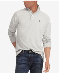 Polo Ralph Lauren - Classic Fit Long Sleeve Mesh Polo - Lyst