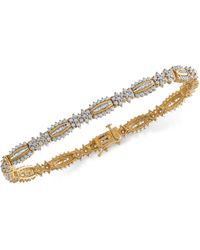Wrapped in Love - Tm Diamond Link Bracelet (3 Ct. T.w.) In 14k Gold, Created For Macy's - Lyst