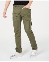 INC International Concepts Slim-straight Fit Cargo Trousers, Created For Macy's