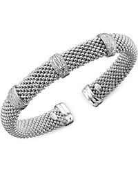 Macy's - Diamond Bracelet In Sterling Silver (1/3 Ct. T.w.) - Lyst