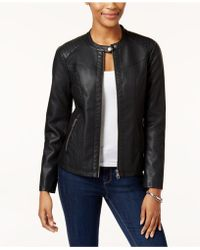 Style & Co. - Faux-leather Moto Jacket - Lyst
