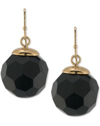 Trina Turk - Gold-tone Jet Faceted Round Bead Drop Earrings - Lyst