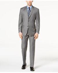 Marc New York - Classic-fit Stretch Grey Glen Plaid Suit - Lyst